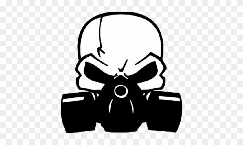 W Car Decal Roblox Skull With Gas Mask Vector Free Transparent