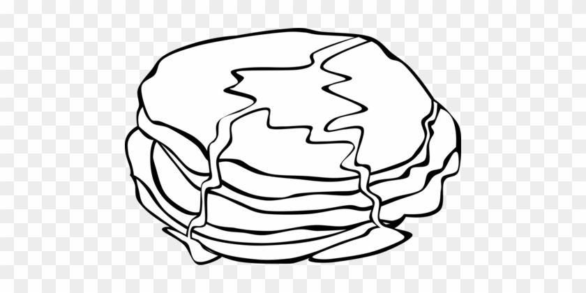 Breakfast Pancake Coloring Book Colouring Pages Fried - Breakfast Food Clip Art Black And White #1363587