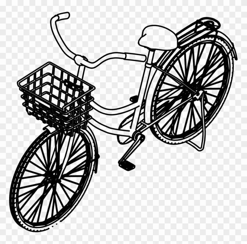 Bicycle Pedals Bicycle Wheels Bicycle Frames Bicycle - Bike Isometric View #1364007