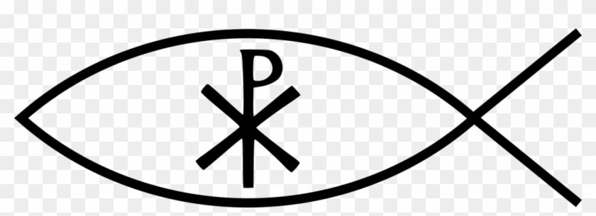 Ichthys Chi Rho Christian Symbolism Christian Cross - Png Fish Symbol Christianity #1364040