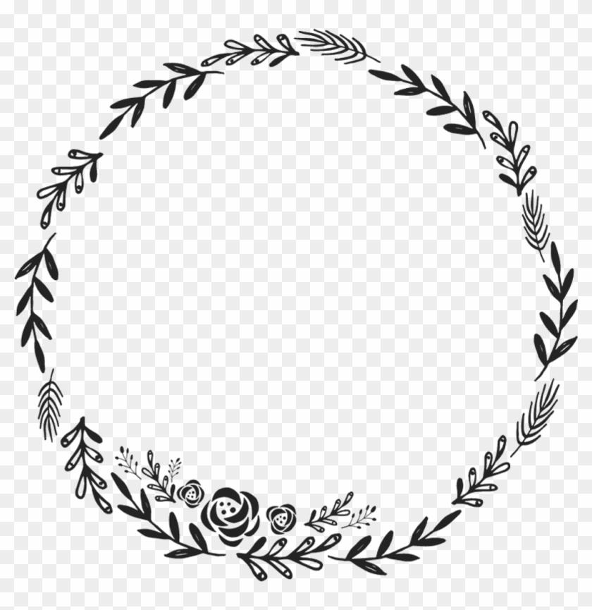 Border Frame Wreath Circle Round Fleaves Floralwreath - Floral Wreath Clipart Transparent Background #1364798