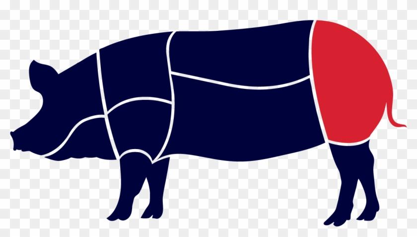 Pork Clipart Ham Bone - Pig Roast #1365328