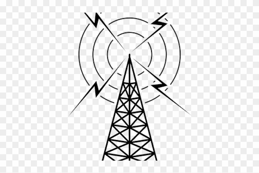 Antenna Clipart Electric Tower - Old Radio Tower Clipart - Free