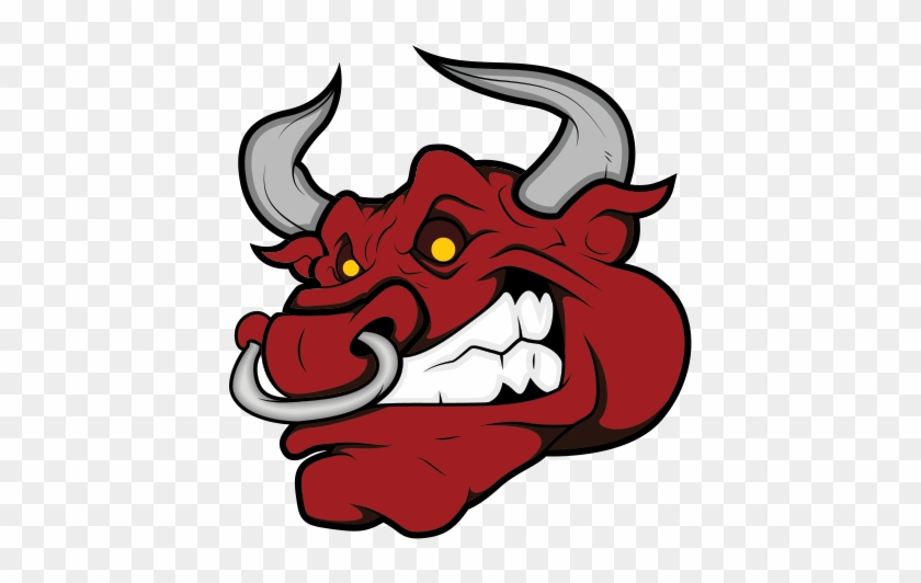 Demon Clipart Angry - Angry Bull Head Vector #1365742