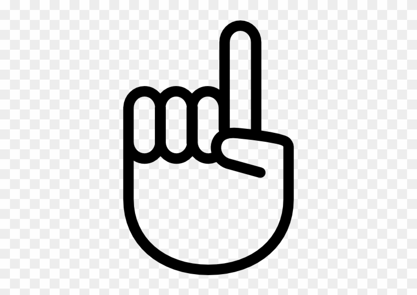 Hand Gesture Raising The Index Finger Free Icon - Indice