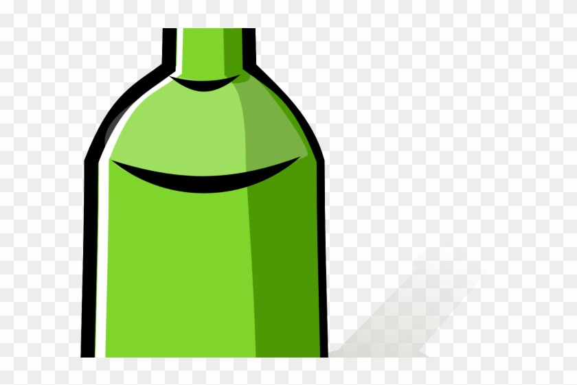 Plastic Bottles Clipart Botal - Wine Bottle Cartoon Png #1366009