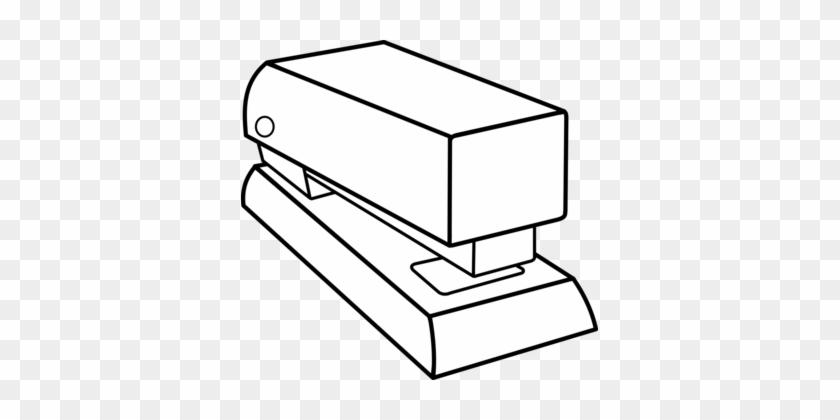 Paper Stapler Drawing Staple Gun - Stapler Black And White #1366310