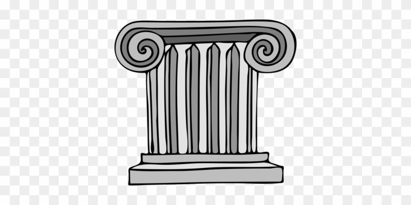 Column Ancient Roman Architecture Classical Order Drawing - Roman Columns Clip Art #1366723