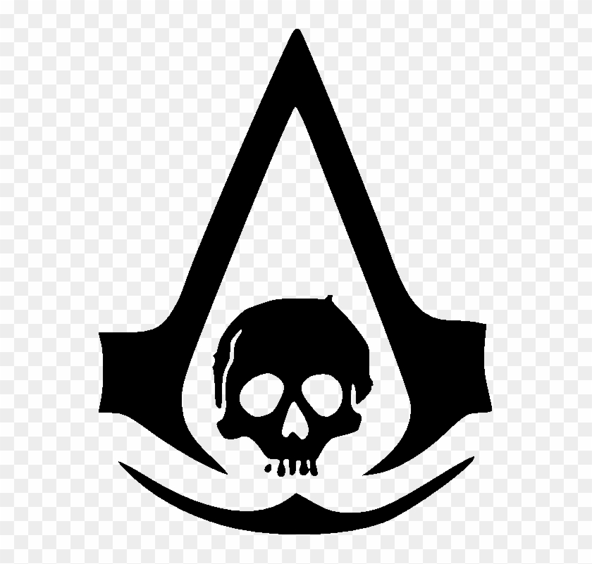 Logo Assassins Creed Black Flag Free Transparent Png Clipart