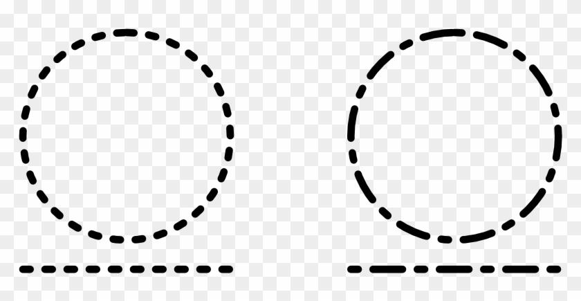 Dash Line Style Pattern - Dash Line Circle #1368932
