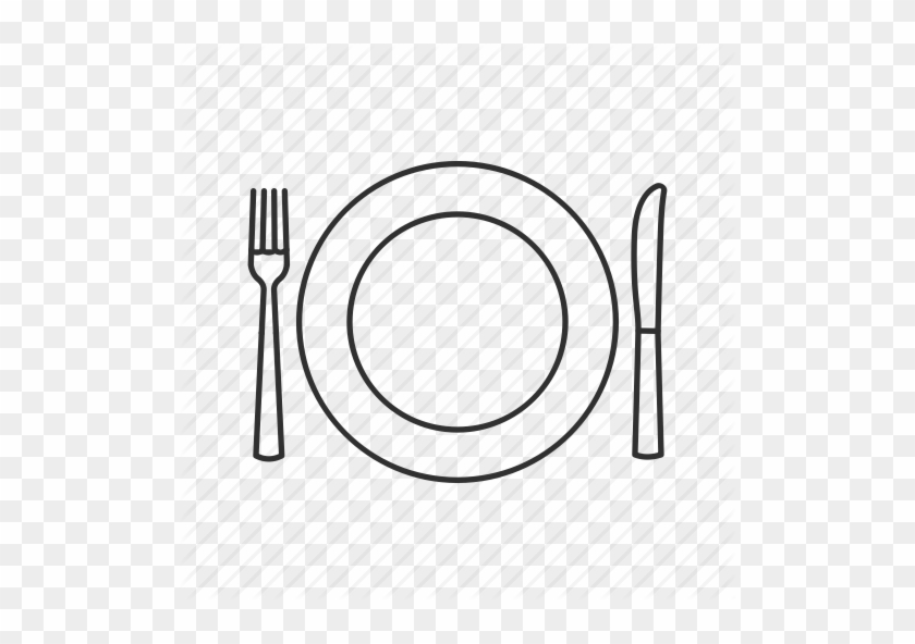 Plate Clipart Table Plate Clip Art - Cartoon Plate Knife And Fork #1369180
