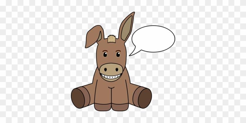 Donkey Computer Icons Logo Download Cartoon - Donkey Talking Clipart #1369904