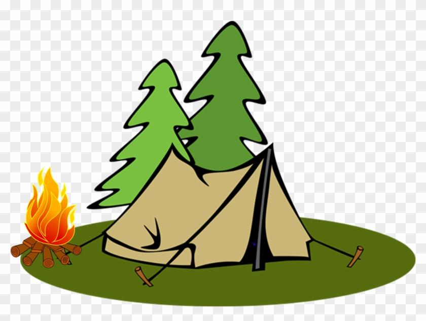 Hotdog Clipart Campfire - Camping Tent Clipart #1370356