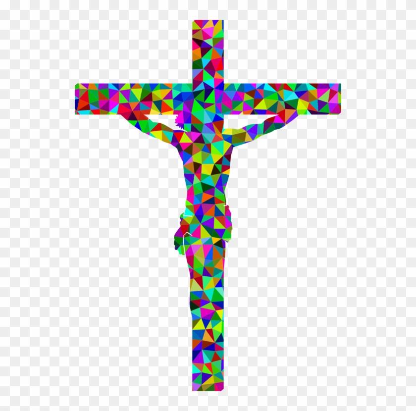 Christian Cross Crucifix Christianity Altar - Crucifix Mosaic #1371345