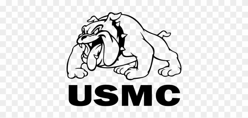 United States Marine Corps Full Body Bulldog Vinyl - St Cloud High School Bulldog #1371677