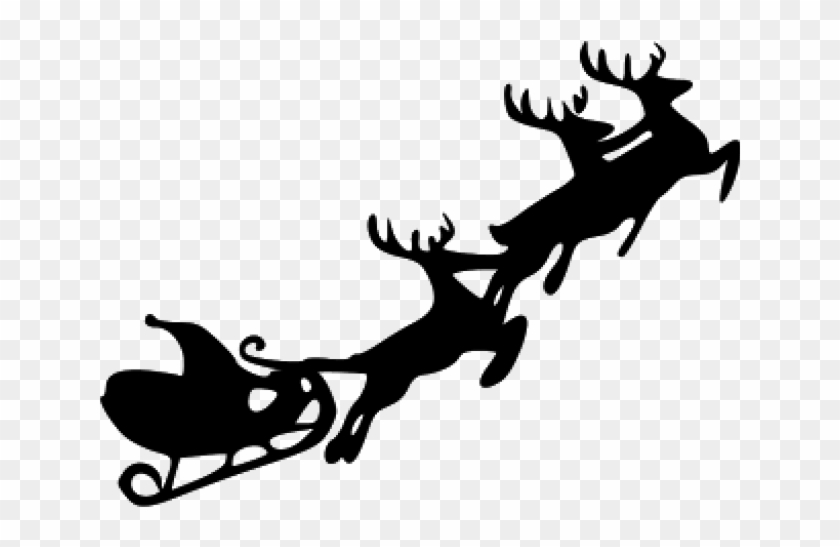 Santa Claus With Reindeer Clipart - Santa Claus With Sleigh - Free  Transparent PNG Clipart Images Download