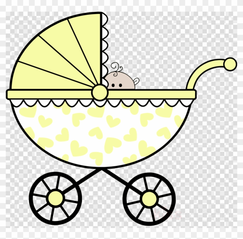 Baby Shower Clip Art Black And White Clipart Infant - Black And White Baby Stroller Clipart #1372961
