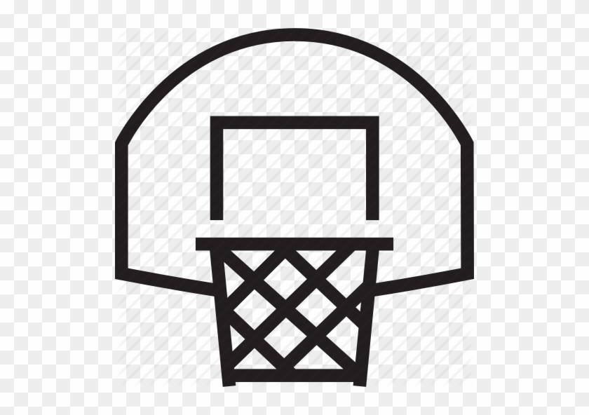 Basketball Net Icon Png Clipart Canestro Backboard - Basketball Hoop Clipart Black And White #1373781