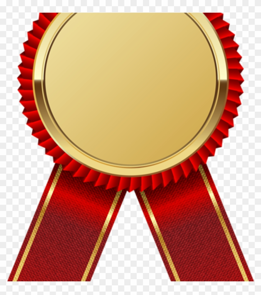 Ribbon Clipart Gold Medal With Red Png Image Frames - Gold Ribbon Png #1374861