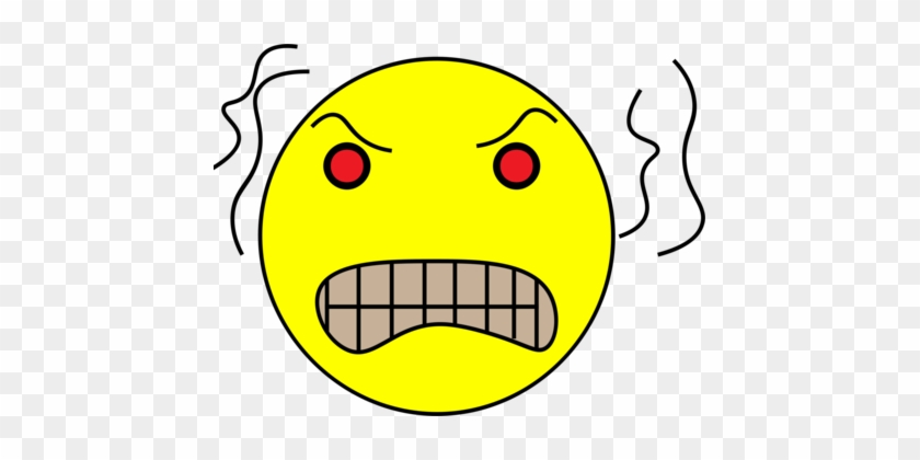 Smiley Emoticon Drawing Computer Icons Face - Angry Head #1375657