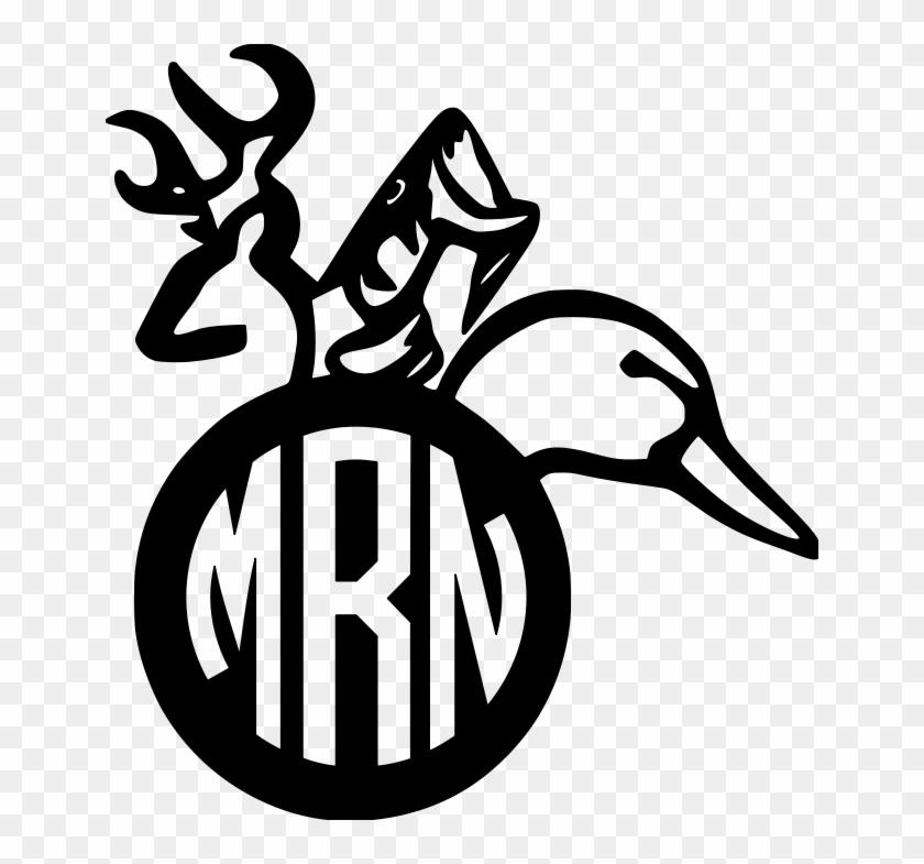 Amazin Tumbler Image Gallery For Cusyom Designs - Deer Fish Duck Monogram #1376225