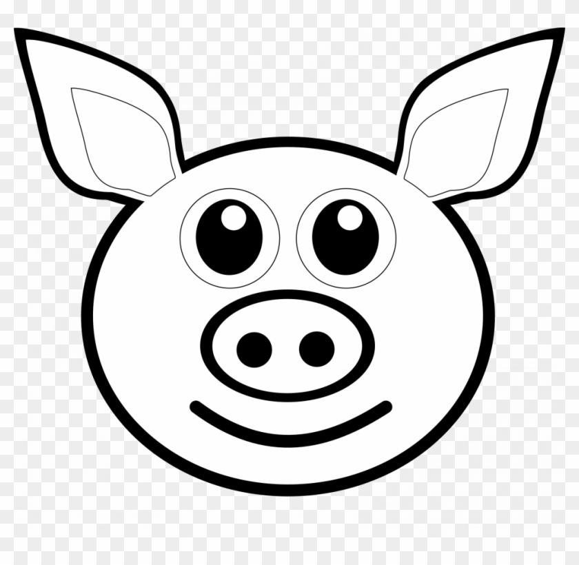 Pig Face Clipart - Drawing Of A Pig Face #1376601