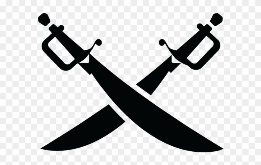 Dagger Clipart Crossed Sabers - Crossed Pirate Swords Png #1377327