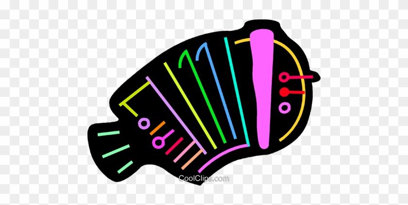 Colorful Accordion Royalty Free Vector Clip Art Illustration - Colorful Accordion Royalty Free Vector Clip Art Illustration #1378560