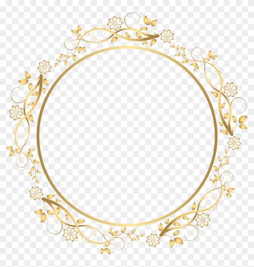 Victorian Border Frame Png - Gold Flower Frame Png #1378950