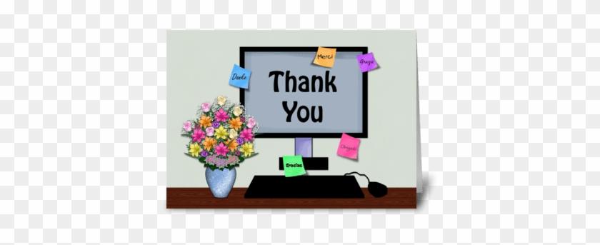 Thank You Foreign Language, Administrati Greeting Card - Administrative Professionals Thank You Admins #1379693