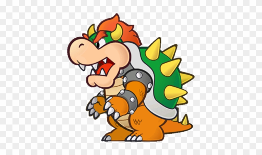 Princess Peach Clipart Paper Mario Bowser - Paper Mario Color Splash Bowser #1379905