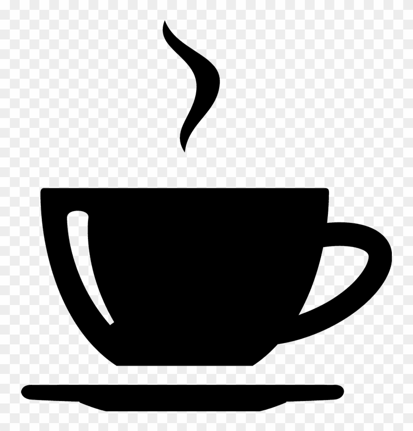 Graphic Free Library Rubber Stamp Food Stamps Stamptopia - Black And White Coffee Cup With Steam #1380223