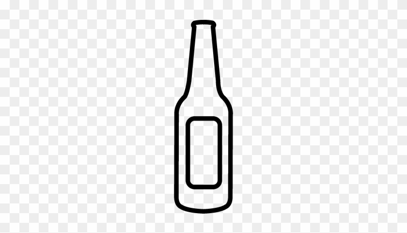 Empty Beer Bottle Vector - Beer Bottle Icon Png #1380231