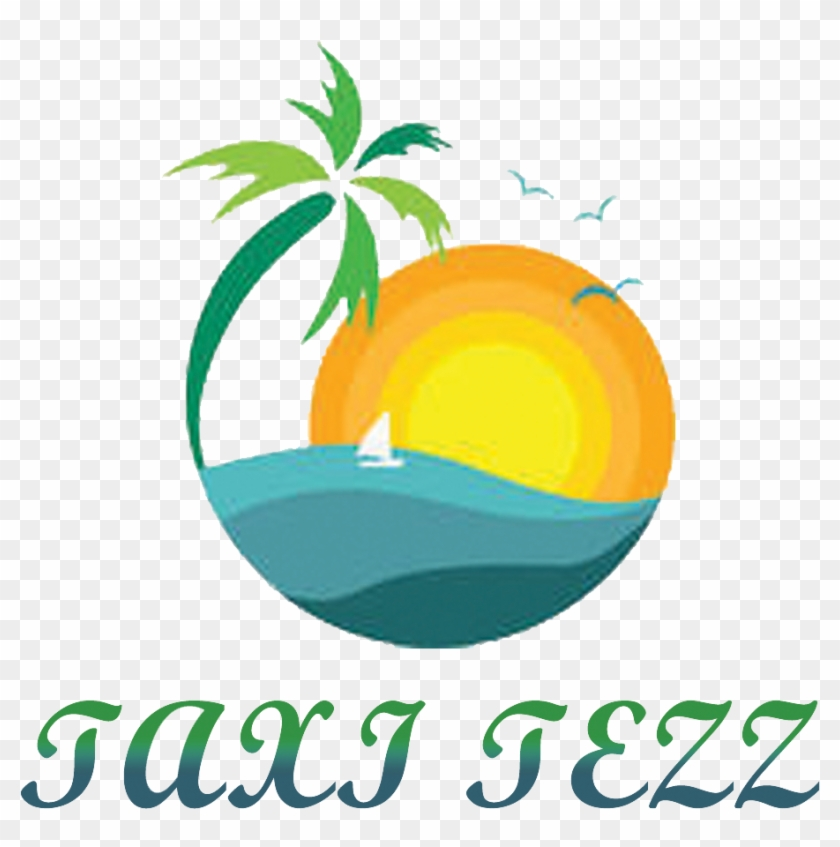 Logo Design By Yokesh For This Project - Palm Tree With Sunset View Oval Ornament #1382600
