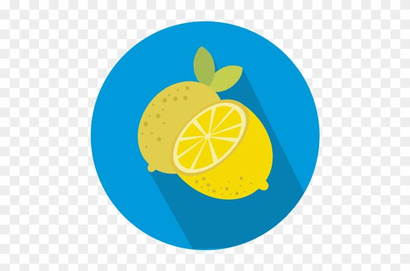 Lemon Circle Icon Transparent Clip Art Transparent - Lemon Icon Png #1382652