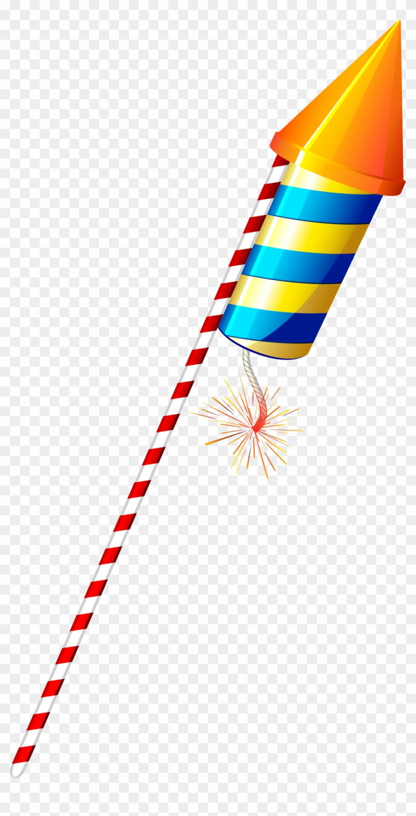 Fireworks Clip Firecracker - Diwali Crackers Rocket Png #1382913