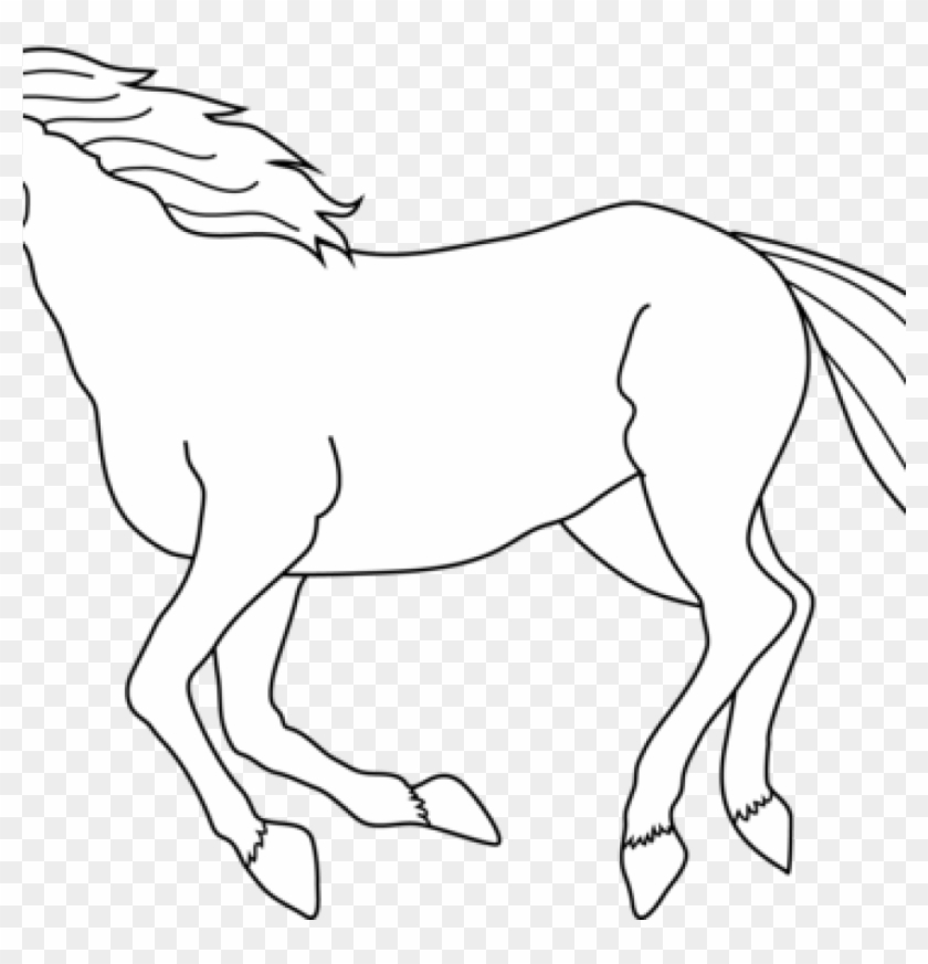 White Horse Clipart Horse Black And White Drawing At - Just A Girl Who Loves Horses T Shirt #1383512