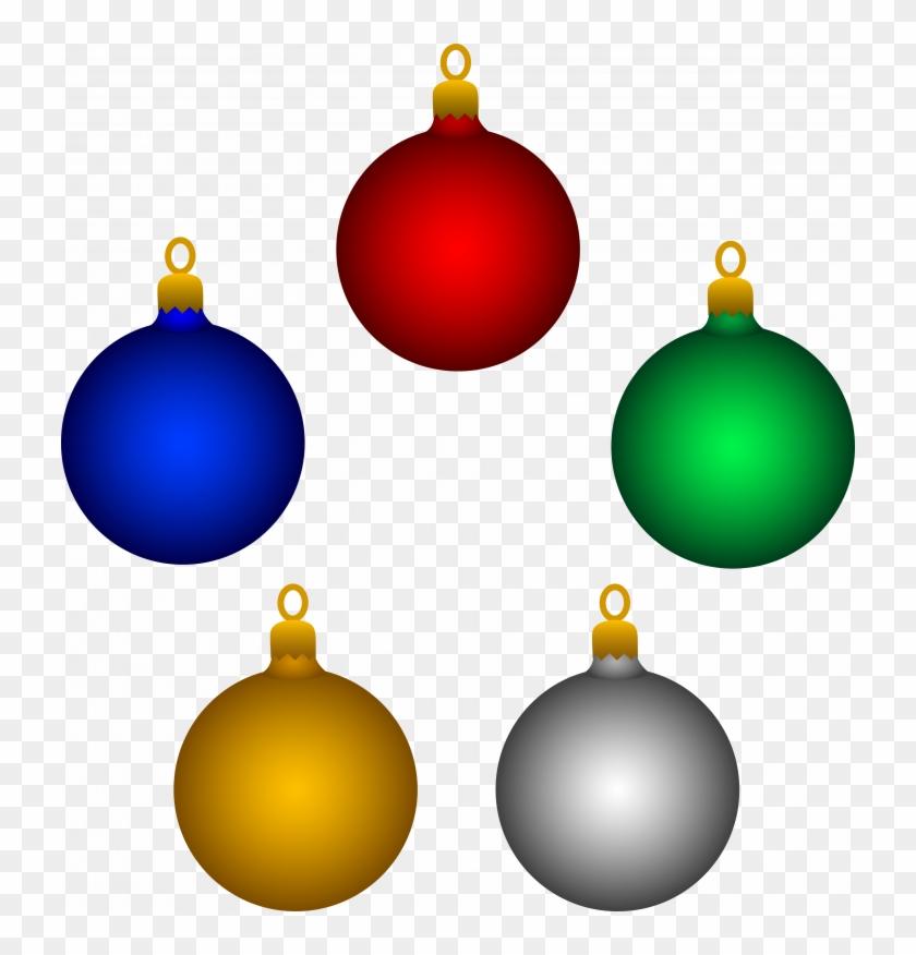 Light Bulbs Clipart - Christmas Tree Decoration Clipart #1384029