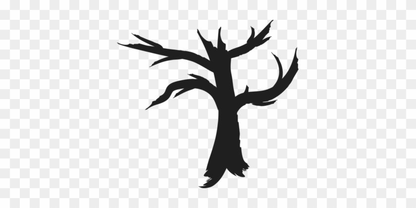 Tree Computer Icons Drawing Silhouette Art - Free Dead Tree Silhouette #1384754