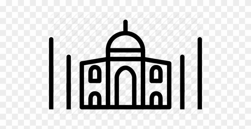Clip Royalty Free Library Arch Vector Mughal - Taj Mahal #1385218