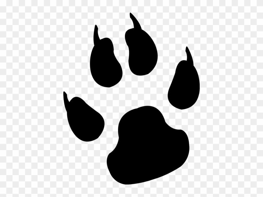 Silhouette, Reprint, Paw, Foot, Trace, Animal, Dog, - Dog Paw Print #1385335
