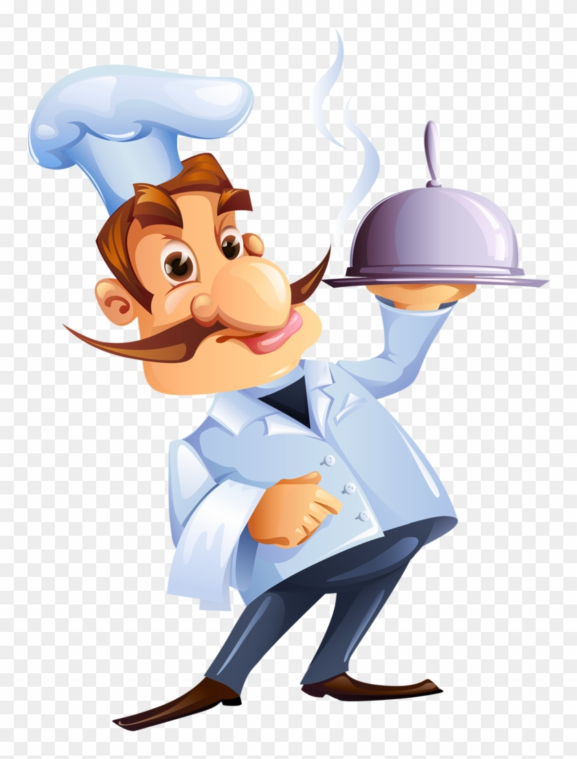 Cozinheiros Clipart, Kiss The Cook, Illustration Art, - Clipart Cartoon Chef Chef Hat Kitchen Png #1385834