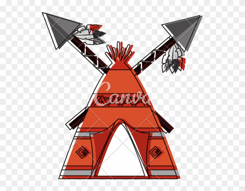 Native American Indian Teepee Icon - Native Americans Teepees Designs #1386432