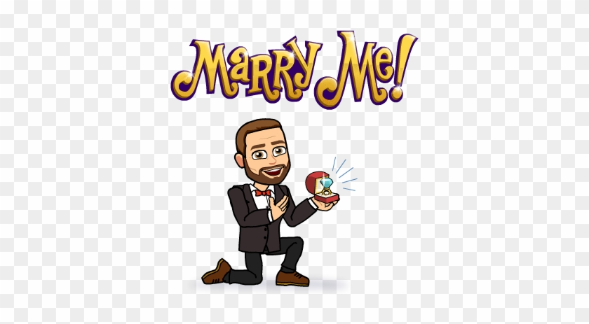 Girl Says Yes, And Girl's Family Says Yes - Bitmoji Will You Marry Me #1387030