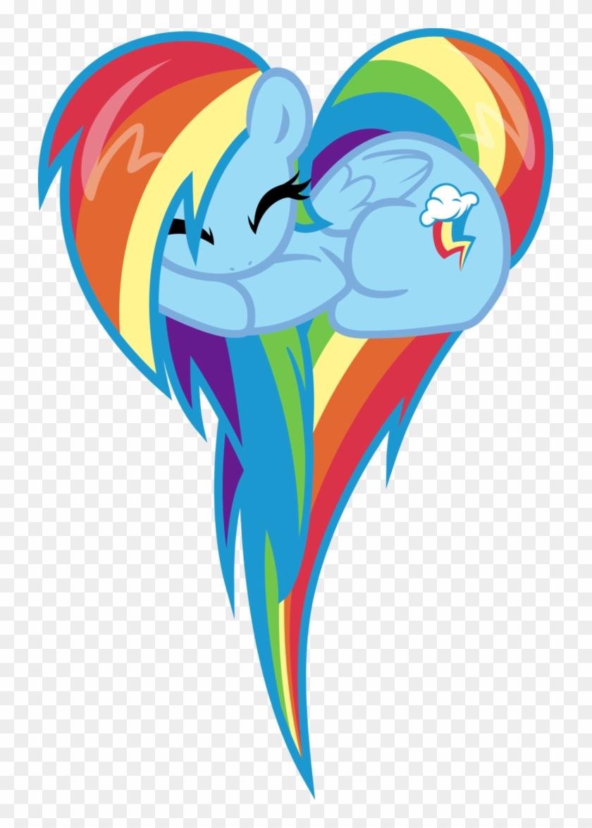I - My Little Pony Rainbow Dash Heart #215593