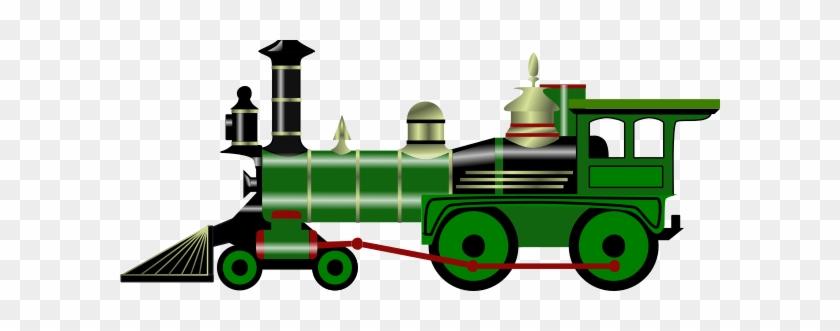 Green Steam Train Clip Art - Steam Train Clip Art #215936