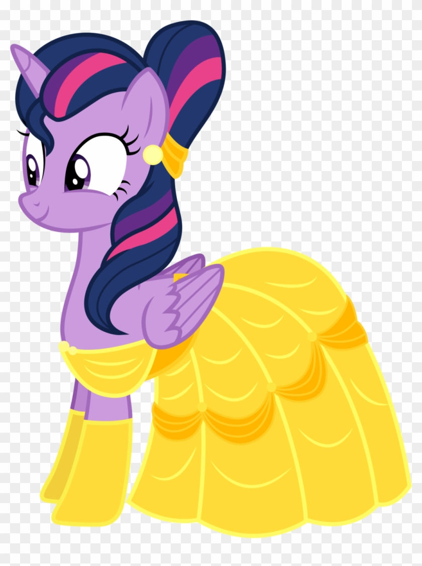 Twilight Sparkle As Belle By Cloudyglow Twilight Sparkle - Mlp Beauty And The Beast #216058