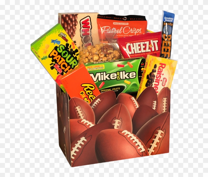 Game Day Snacks Basket Tasteful Treats - 6 Pack Large Football Basket Boxes 10.25 X 6 X 7.5 #216237