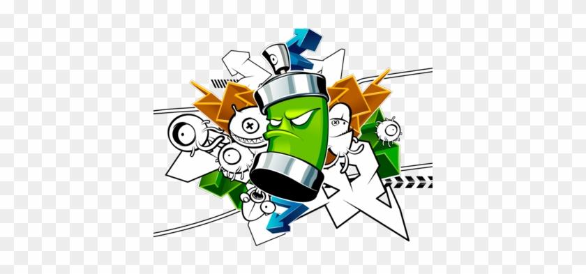Graffiti Clipart Graffiti Spray Can Clipart - Graffiti Cartoon Spray Can #216329