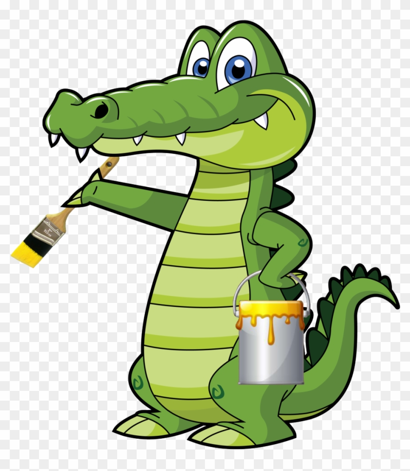 Cartoon Alligator #216356